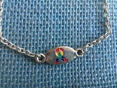 Autism Puzzle Ribbon Bracelet