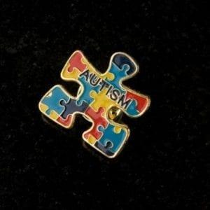 Awareness Puzzle Lapel Pin