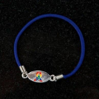 Blue Puzzle Stretch Bracelet