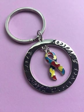 Every Child Deserves A Voice Keychain
