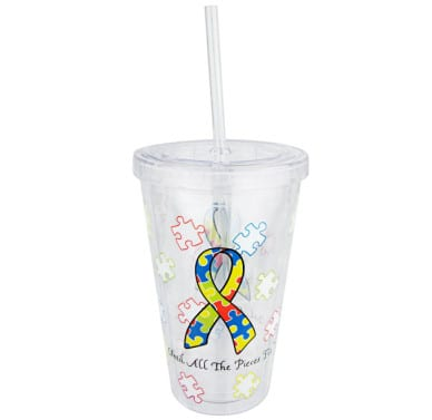 "Insulated Tumbler - ""Until All The Pieces Fit"""