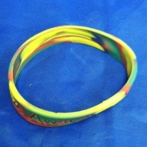 Mutlicolored Silicone Bracelet