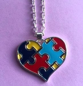 Puzzle Heart Pendant Necklace