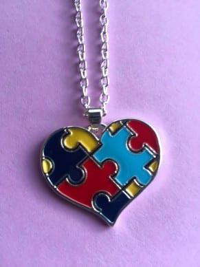 Puzzle Heart Pendant Necklace