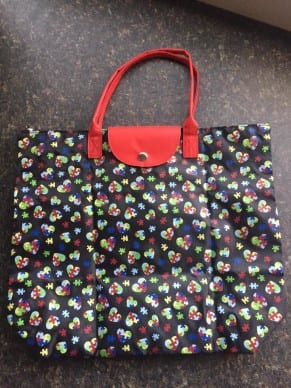 Puzzle Heart Tote Bag