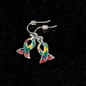 Puzzle Ribbon Earrings