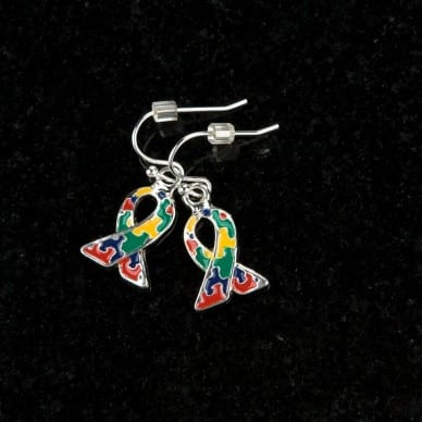 Puzzle Ribbon Earrings