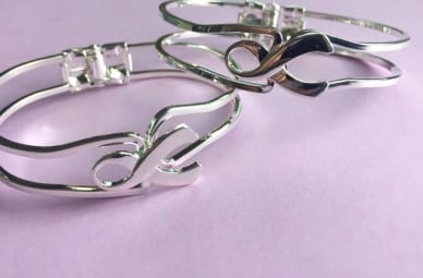 Silver Ribbon Bangle Bracelet
