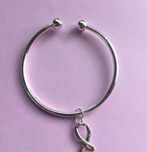 Silver Ribbon Keychain