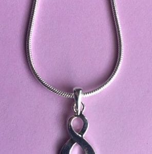 Silver Ribbon Pendant Necklace
