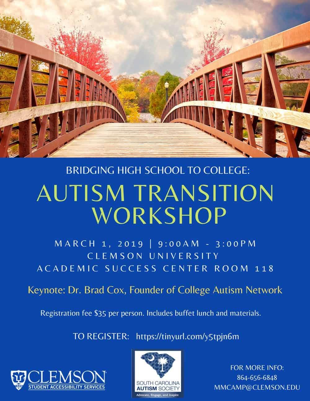 autism transition workshop with clemson