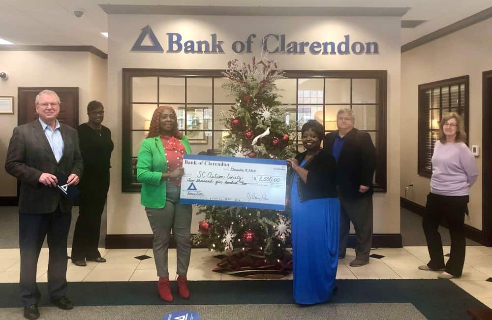 Donation from Bank of Clarendon